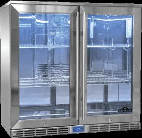 Napoleon Outdoor - Kühlschrank, 2-türig mit Doppelverglasung und LED Beleuchtung - wasserdicht nach IP24
