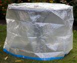 Landmann Tischhülle rund, transparent, 125x75cm 14308