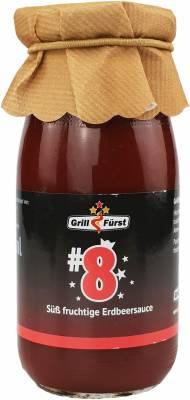 Grillfürst BBQ Sauce No. #8, die süße fruchtige Erdbeersauce