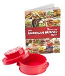 Landmann American Burger Set: Hamburgerpresse mit Rezeptbuch