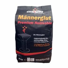 5kg Männerglut Premium Holzkohle v. 2.0 - Hochwertiger Hartholz Mix - 80% Buche