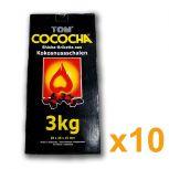 30kg TOM COCOCHA Kokosnusskohle gelb 25x25x15mm